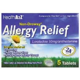 24 Bulk Allergy Relief 24 Hr 5 Ct Loratadine 10 Mg NoN-Drowsy Compare To Claritin