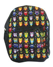 18 Bulk Back Pack 16x12x6 Inches Owls
