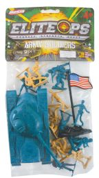 24 Bulk Plastic Army 20 Piece Set Tanksoliders And Flag