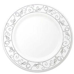 12 Bulk Crown Dinnerware Dinner Plate 10 In 10 Pack Platinum Collection
