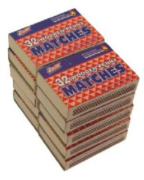 48 Bulk Wooden Penny Matches 10 Pack 32 Count