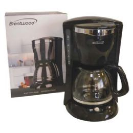 6 Bulk Brentwood Coffee Maker 12 Cup Black Etl Listed