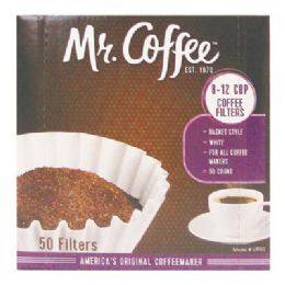 12 Bulk Mr Coffee Filter 50 Count Boxed