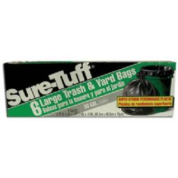 24 Bulk Sure Tuff Trash And Yard Bags 6 Count 33 Gallon