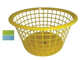 48 Bulk Basket Round 16 X 9 Inches Assorted Colors