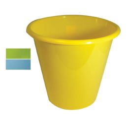 48 Bulk Waste Basket Round 2.40 Gallon Assorted Colors