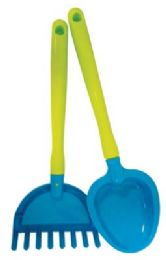 36 Bulk Pride Beach Toy Rake And Shovel 16 In Assorted Designs