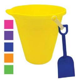48 Bulk Beach Pail 9 In With Shovel And Spout