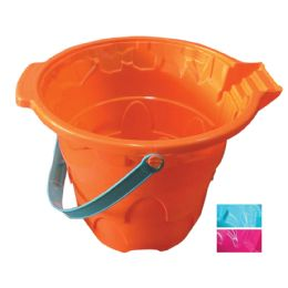 24 Bulk Beach Bucket 11 X 9 Inches Assorted Colors