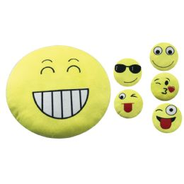36 Bulk Plush Pillow 13 Inch Assorted Expession Faces