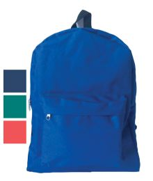 18 Bulk Back Pack 16x12x6 Inches Assorted Colors