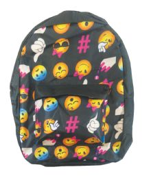 18 Bulk Back Pack 16x12x6 Inches Expression Face Design