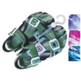 24 Bulk Unisex Sandal Adjustable Straps Youth Assorted Sizes 11-3 And Colors