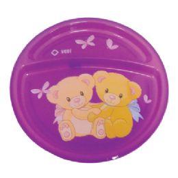 24 Bulk Divided Plate For Children 8 Inch Diameter