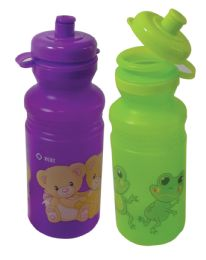 24 Bulk Water Bottle Childrens 16 Ounces Assorted Designs