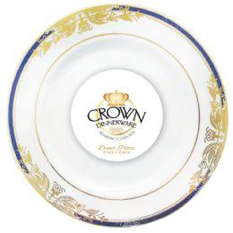 12 Bulk Crown Dinnerware Dinner Plate 10 Inch 8 Pack Renaissance Collection