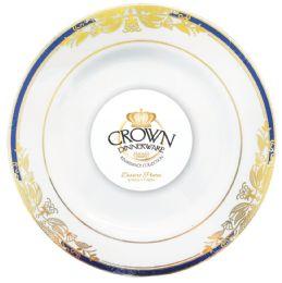 12 Bulk Crown Dinnerware Dessert Plate 7 Inch 8 Pack Renaissance Collection