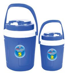 6 Bulk Hot/cold Insulated 2 Pc Jug Set 5 Liter And 2 Liter Assorted Colors