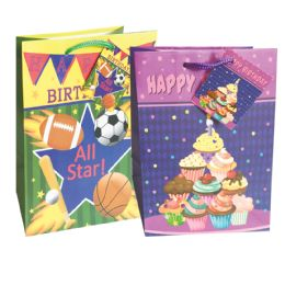 Wholesale BIRTHDAY GIFT BAG 9 X 7 4 INCH MEDIUM ASSORTED DESIGNS