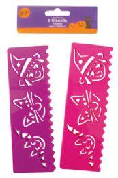 36 Bulk Halloween Stencils 8 Count Purple/pink Prepriced $0.97