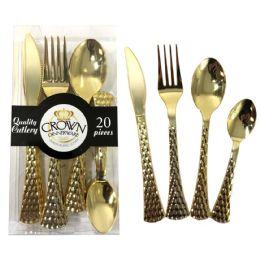 24 Bulk Crown Dinnerware Plastic Cutle