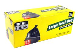 12 Bulk Real Tough Trash Bag 39 Gl 30