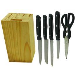 6 Bulk Simply Kitchenware Knife Block