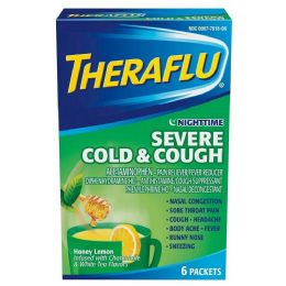 12 Bulk Theraflu Green 6ct Nighttime Severe Cold And Cough
