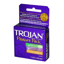 12 Bulk Trojan Pleasure Pack 3pk