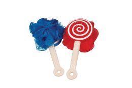 14 Bulk Bath Brush Lollipop Design Plastic Handle 8