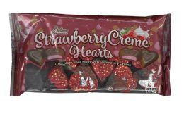 24 Bulk Strawberry Creme Hearts 4.5 oz