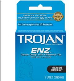 12 Bulk Trojan 3's Lubricated/blue