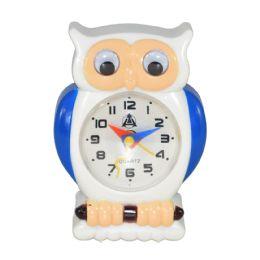 12 Bulk Owl Design Alarm Clock In Box Battery Operated Size 3.5 X 2.5