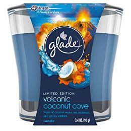 6 Bulk Glade 3.4oz Candle Volcanic Coconut