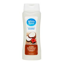 6 Bulk White Rain Body Wash 12 Oz Moisturizing Coconut And Hibiscus