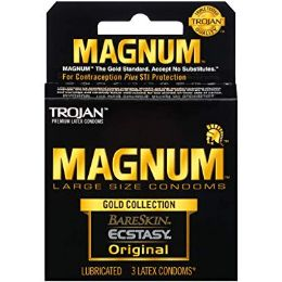 12 Bulk Trojan 3's Magnum Gold Collection (bareskin Ecstasy Original)