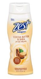 6 Bulk Zest Body Wash 16.5oz Indulgence Coco Butter And Shea