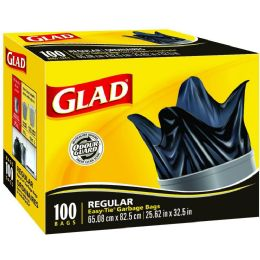 Bulk Glad Easy Tie Regular Trash Bags 20 Gallon 100ct
