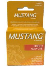 12 Bulk Mustang Ribbed Brown 3pk