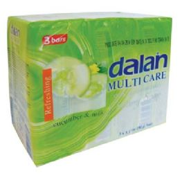 24 Bulk Dalan Cucumber And Milk Soap 3pk 3.17 Each