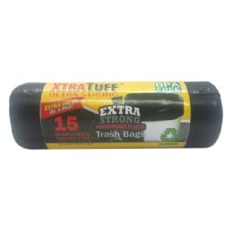 48 Bulk Xtratuff Trash Bag 13gal 15ct Rolls