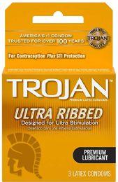 12 Bulk Trojan 3's Rib Lub Brown