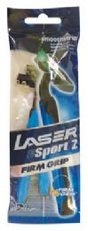 40 Bulk Lazer Men Twin Blade Razor 2pk Firm Grip
