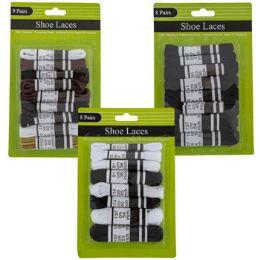72 Bulk Shoe Laces Cotton 3ast 8/9pks