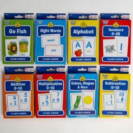 48 Bulk Flash Cards School Zone 8 Assorted In Pdq