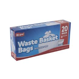 24 Bulk Trash Bags 20ct - 8 Gallon