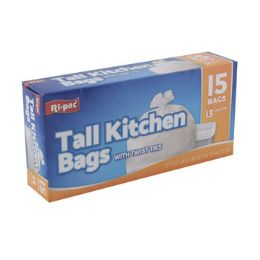 24 Bulk Trash Bags 15ct - 13gal