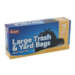 24 Bulk Trash Bags 7ct - 33gal