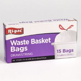 24 Bulk Trash Bags 15ct - 8gal