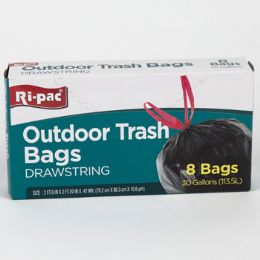 24 Bulk Trash Bags 8ct - 30gal Outdoor